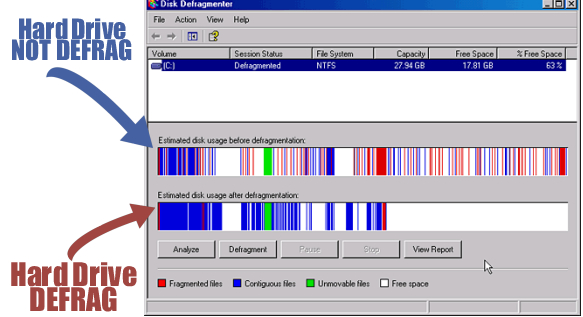 windows defragment disk