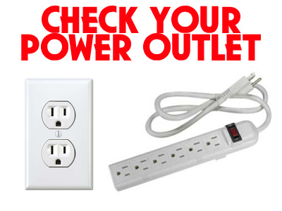 Check Power Outlet
