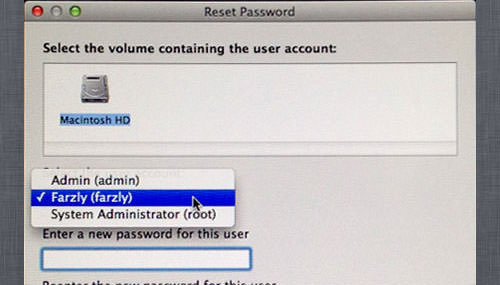 reset password mac